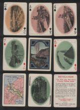 Antique playing cards Panama Souvenir 1926